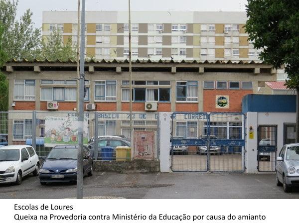 bb738b51f Escolas de Loures entregam queixa na Provedoria contra Ministério da  Educação por causa do amianto